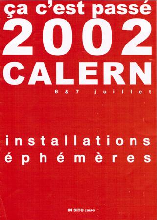 Installations éphémères plateau de calern 2002