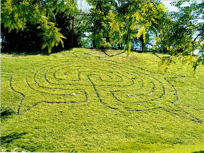 labyrinthe land art au parc phenix nice en 2005 installation d 39 eric corbier. Black Bedroom Furniture Sets. Home Design Ideas